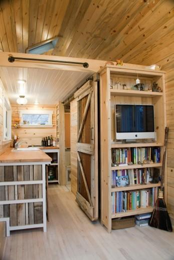 Tiny house bookcase