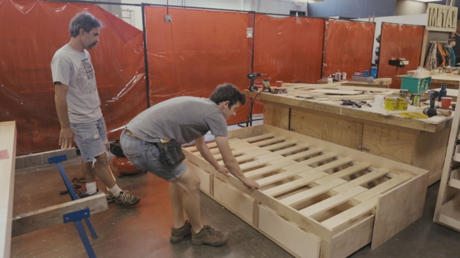 Ben's Tiny House Bed